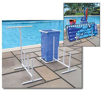 Organizer Caddy for Swimming Pool Floats  Towel Bar