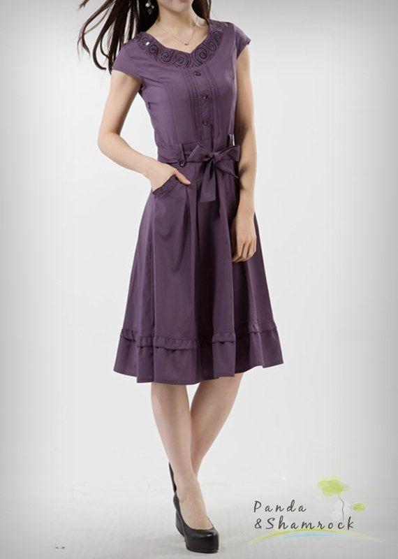 Pockets make everything better :) sparkle/women dress/cotton/long/elegant by pandaandshamrock, $68.00