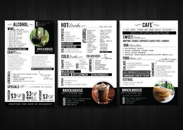 320 best menu images on Pinterest Flyer template, Food menu and - bar menu template