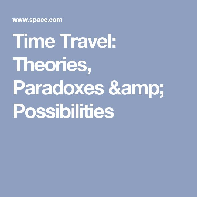 Time Travel: Theories, Paradoxes & Possibilities