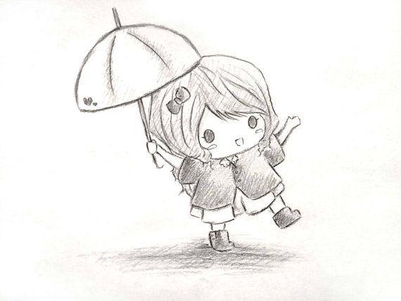 drawing drawings easy cat girly sketch chibi