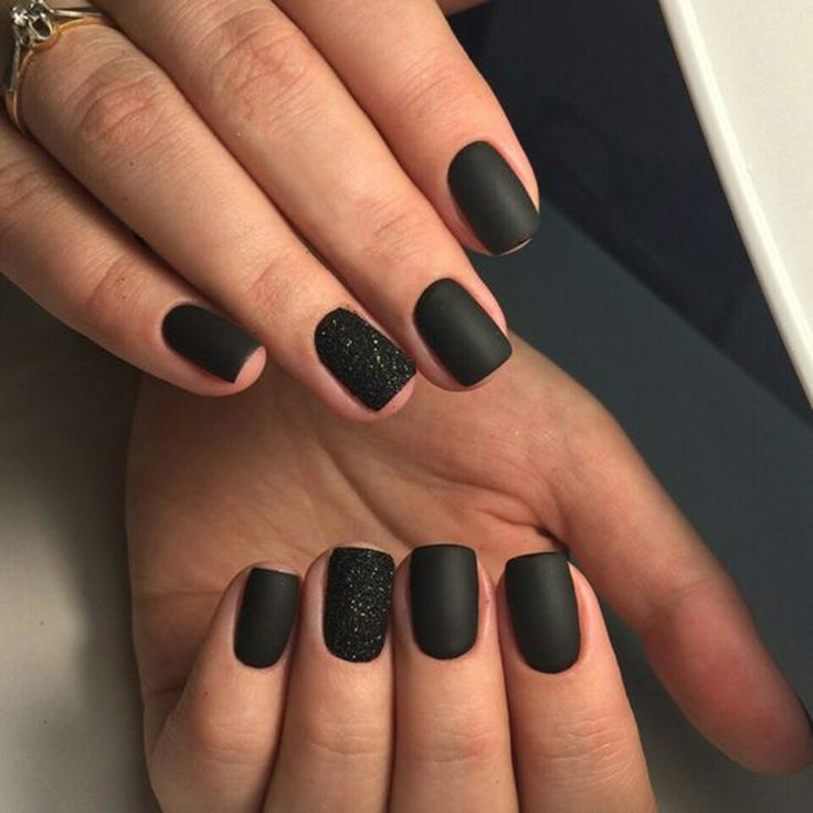30+ Trendy Matte Black Nails Designs Inspirations