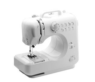 @ShopAndThinkBig.com - Most Popular Model Of Desktop Sewing Machine Featuring 8 Stitches! Features: Double Thread, Double Speed Featuring 8 Built-In Stitch Patterns Forward And Reverse Sewing Automatic Thread Rewind Sews Sleeves Drawer Included Use Hand Switch Or Foot Pedal To Start Built-In Sewing Light Thread Cutter Included Uses Dc 6V Power Foot Pedal, Adapter, And Thread Bag IncludedElectric Scissors (Model Fs101) 102 Piece Sewing Kit Weight: 6.5 Lbs; Size: 12.4″ X 5.8″ X 11.7&#8243…