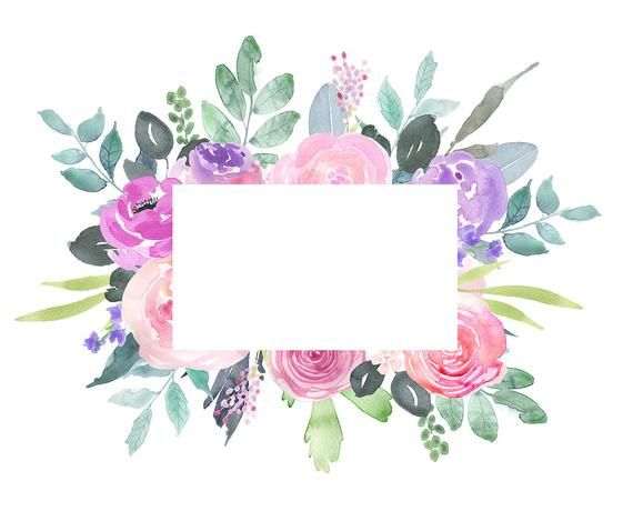 Watercolor Floral Clipart 22 Bright Branches Flowers Leaves