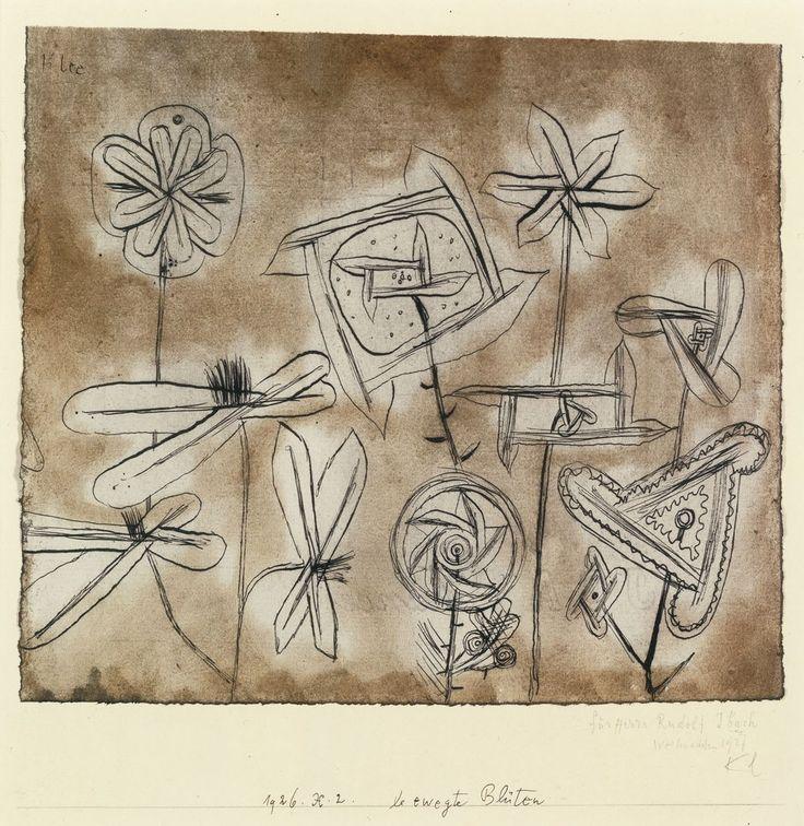 Paul Klee (Swiss, 1879 - 1940) - Flowers in Motion (Bewegte Blüten), 1926