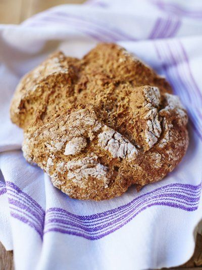 Find a simple soda bread recipe from Jamie Oliver; perfect for when you're in a hurry as you can whack it in the oven without waiting for the dough to rise!