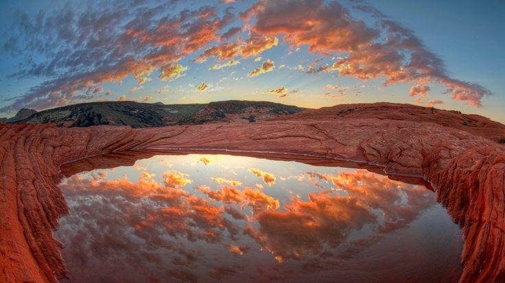Bing fotos: Butch Cassidy's bathtub in Snow Canyon State Park, Utah (© Kerrick James/Corbis)