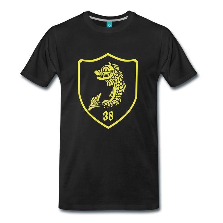 design de tee-shirt Grenoble avec le dauphin sous forme de blason style trône de fer.