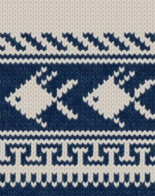 Такими жаккардами часто украшают детскую одежду, например пуловеры в морском стиле или зимние свитера. Со схемами жаккардов спицами вы можете ознакомится далее.