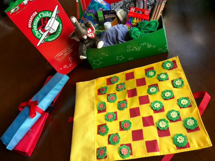 Operation Christmas Child Roll-Up Checker board