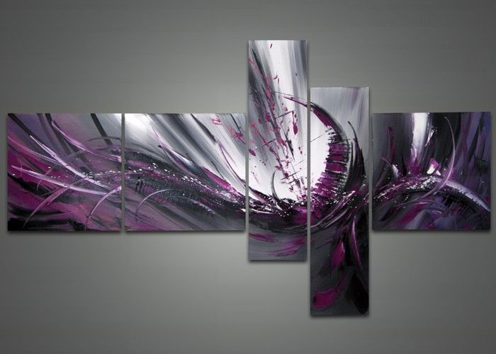 Purple Abstract Canvas Painting 1026 - 66 x 36in