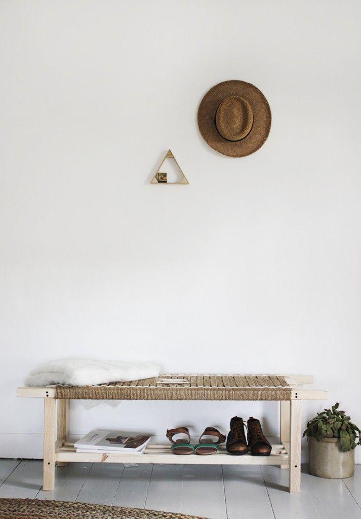 DIY Woven Bench