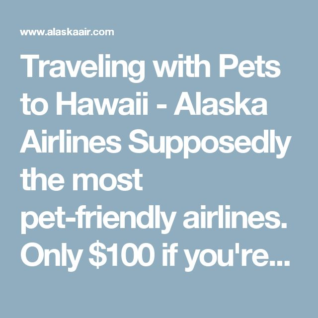 Traveling with Pets to Hawaii - Alaska Airlines  Supposedly the most pet-friendly airlines.  Only $100 if you're on the same flight and options for sending separately.