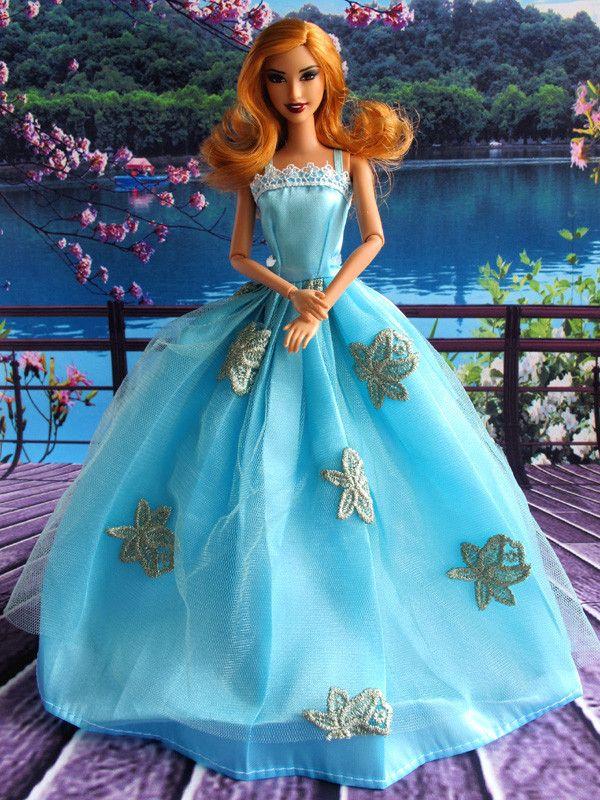 Barbie doll dress in beautiful light blue colour   Barbie ...