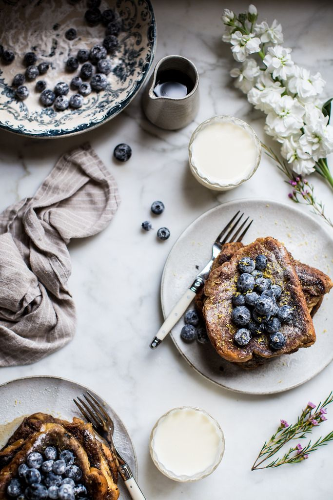 """delta-breezes: """"London Fog French Toast w/Sugared Blueberries 