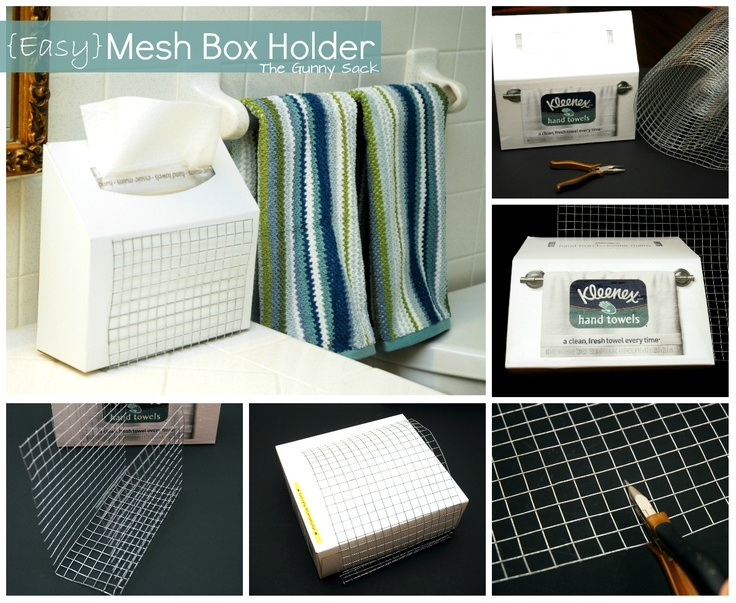 Merveilleux DIY Mesh Box Holder ~ Perfect For Kleenex Hand Towels! #CGC #CleanHands