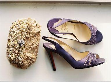 mauve louboutins with small rhinestones: Wedding Inspiration