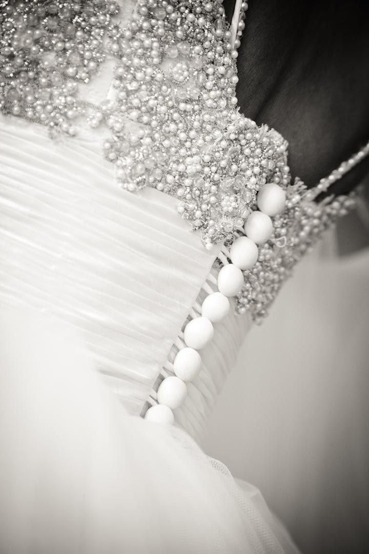 Beautiful detailing on the bridal gown