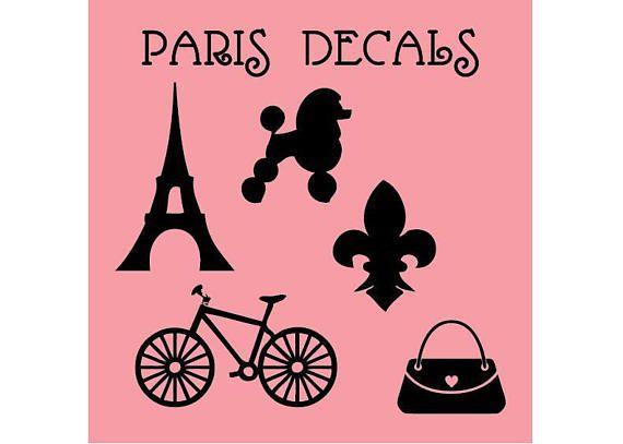 Paris Decals Assorted Paris Decals Wall Decals Individual