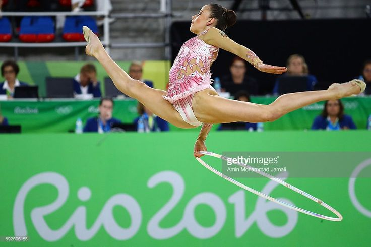 Marina Durunda of Azerbaijan competes during the Women's Individual All-Around Rhythmic Gymnastics Final on Day 15 of the Rio 2016 Olympic Games at the Rio Olympic Arena on August 20, 2016 in Rio de Janeiro, Brazil.