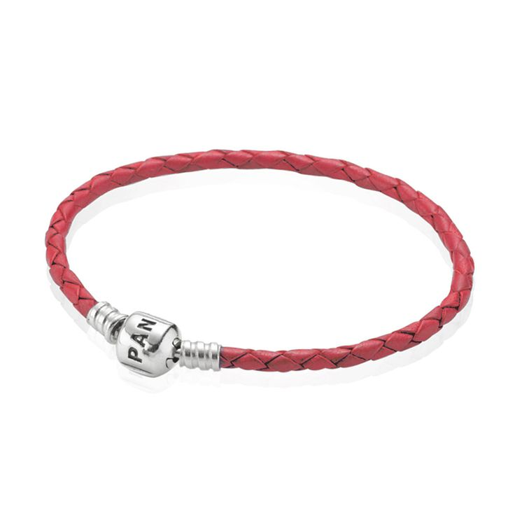 Pink Single Leather Bracelet | PANDORA, Bracelet, pink leather, single, sterling silver clasp, CA$38.98 45% OFF, Buy Now: http://www.pandoracanada2013.com/pandora-leather-bracelet-sale.html
