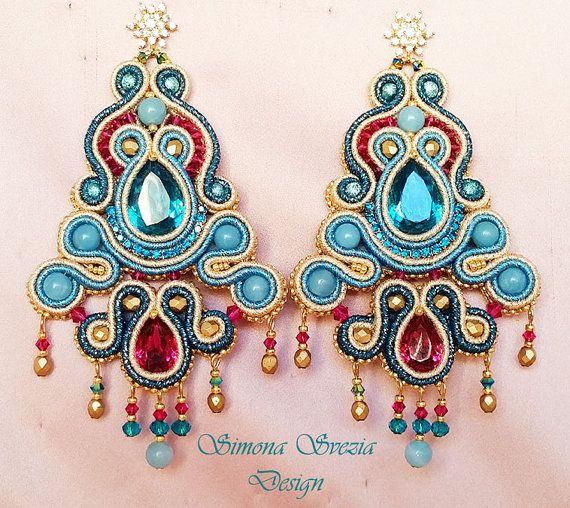 EARRINGS soutache technique / ORECCHINI in