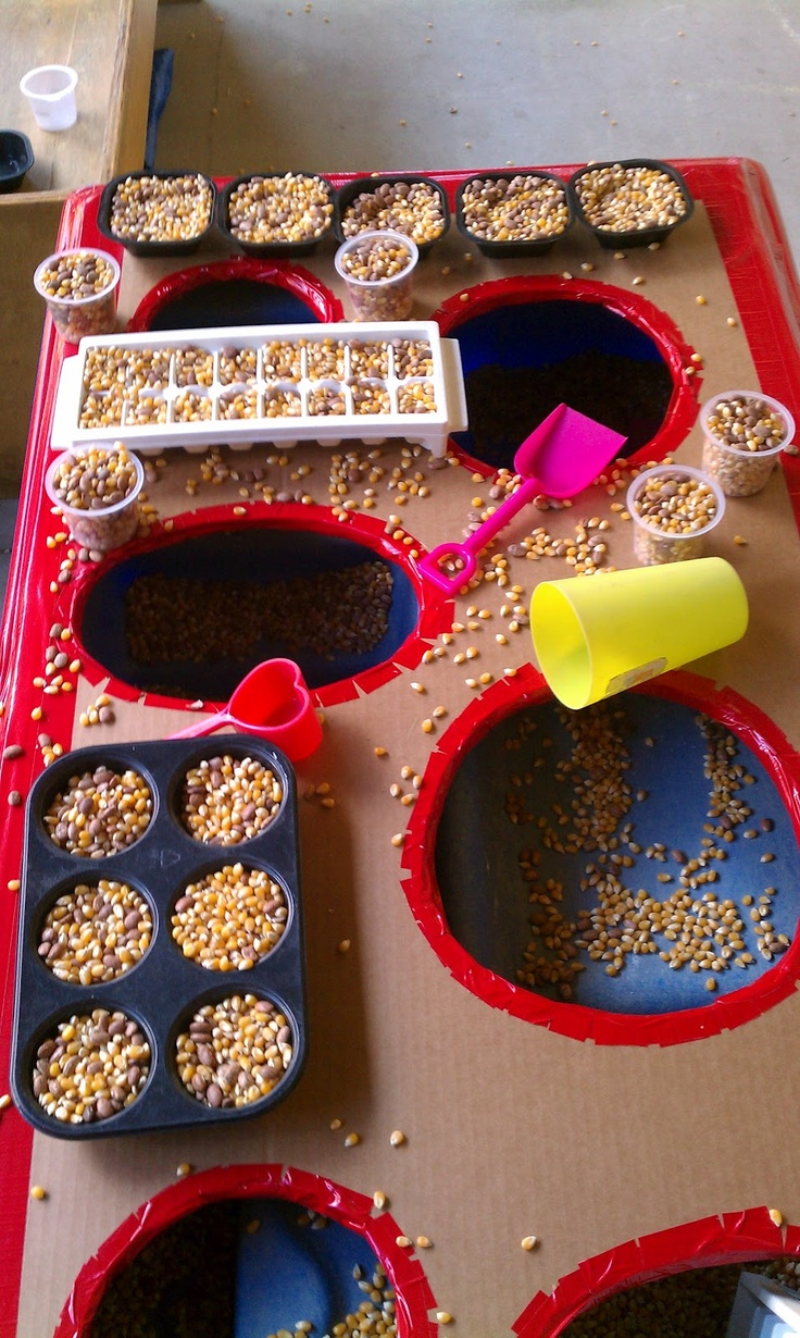 Sensory Bin with a Hole-y Top (see all the pictures of this blog post)