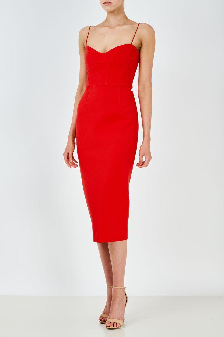 NICHOLAS - Bandage Quilted Midi Dress