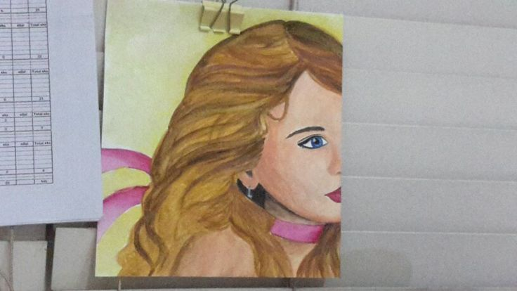My watercolor painting back then #semester2#observationalgraphics2