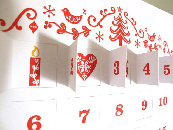 The culmination. And a wee bit of shameless self promotion. My advent calendar on etsy.