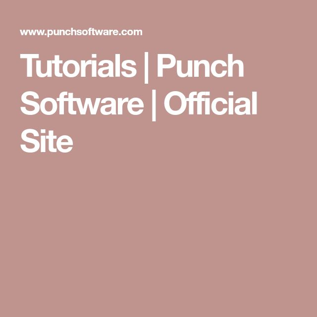 Tutorials | Punch Software | Official Site