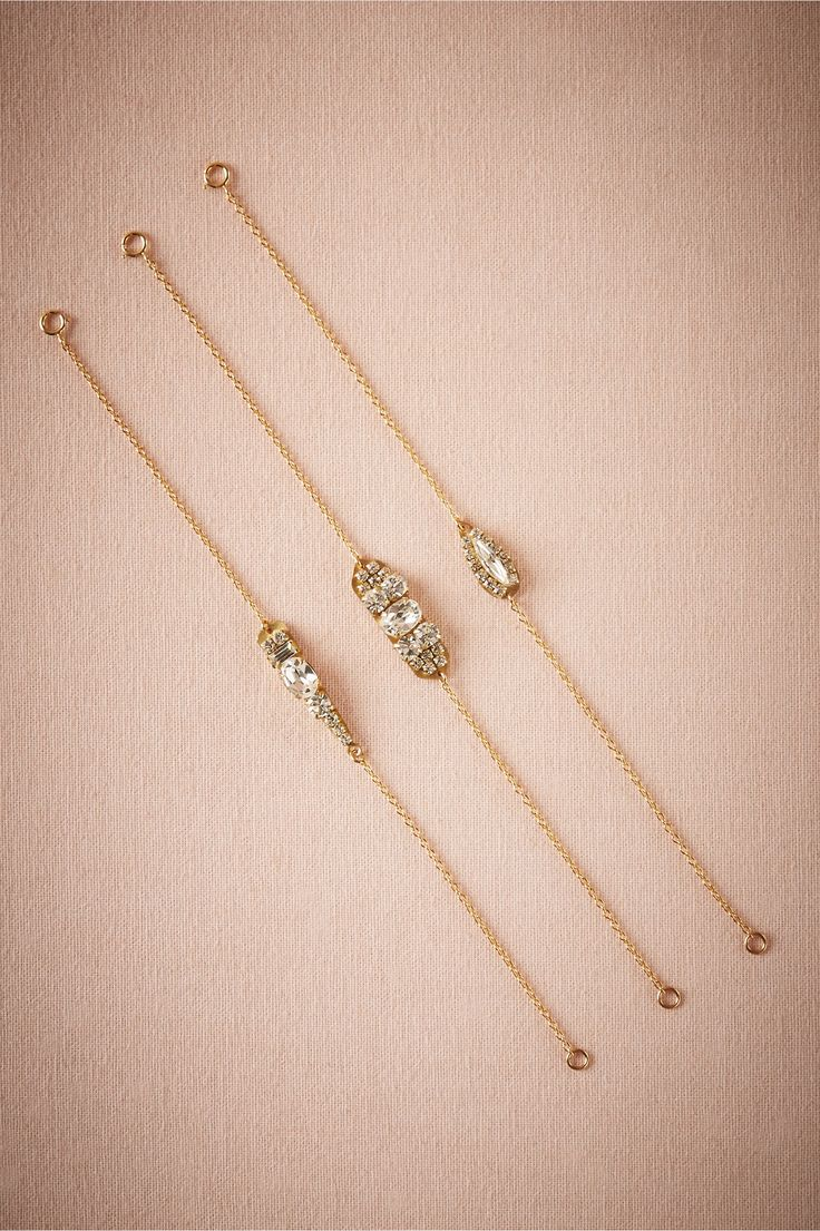 Louisa Crystal Bracelet in Bridal Party & Guests Bridesmaids Jewelry at BHLDN | I like the middle one
