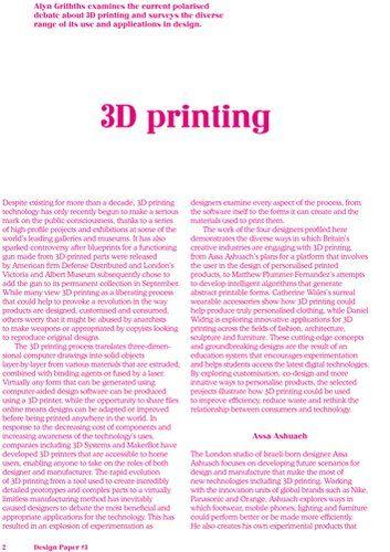 Back of the Envelope › D3 Paper: 3D Printing