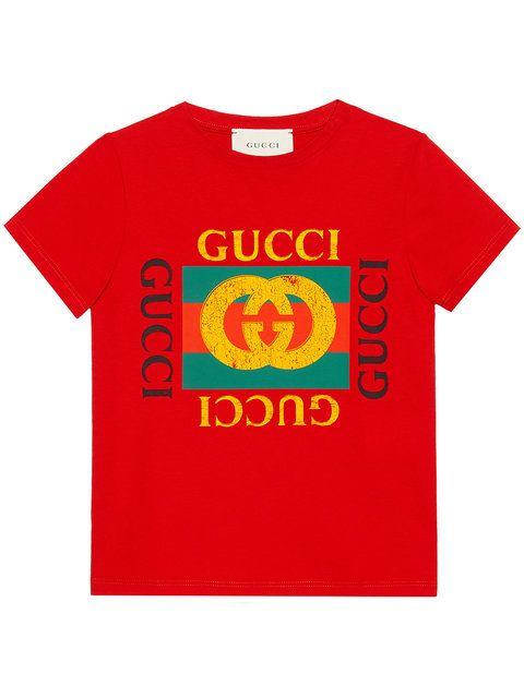 0e87f39b Gucci Kids Children's Cotton T-shirt With Gucci Logo in 2019 | My ...