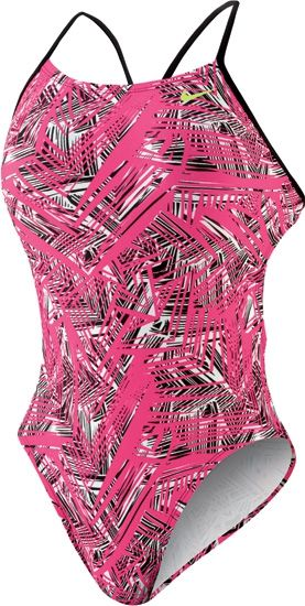 NIKE SWIM Female Scatter Brain Cut-Out Tank (Pink Flash (691))