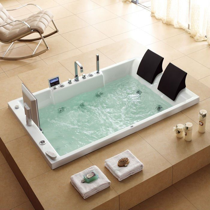 Image result for large bathtub for two #dreambathroombathtubmasterbath  #spabathtubsfortwo | Large bathtubs, Bath tub for two, Tub