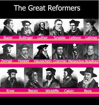 The Great Reformers - Many of whom were burnt at the stake under Queen Mary I