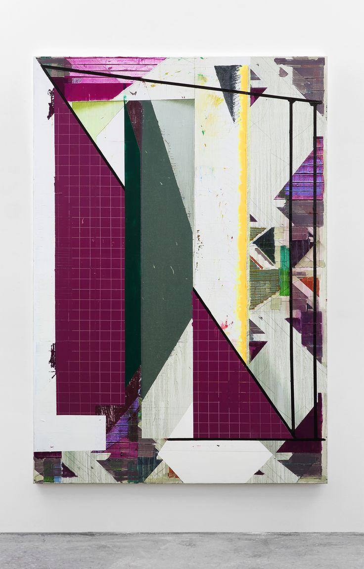 Correspondence – 210 x 145cm, oil and acrylic on canvas, 2016 - Dil Hildebrand #dilhildebrand