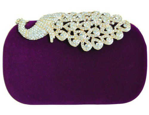 New Trending Clutch Bags: Chicastic Suede Rhinestone Stud Peacock Motif Wedding Evening Cocktail Clutch Bag - Purple. Chicastic Suede Rhinestone Stud Peacock Motif Wedding Evening Cocktail Clutch Bag – Purple  Special Offer: $19.99  399 Reviews Suede MaterialRhinestone studded peacock motifDetachable Chain AttachedMeasures – 6″ length x 4″ height x 2″ width**Official...