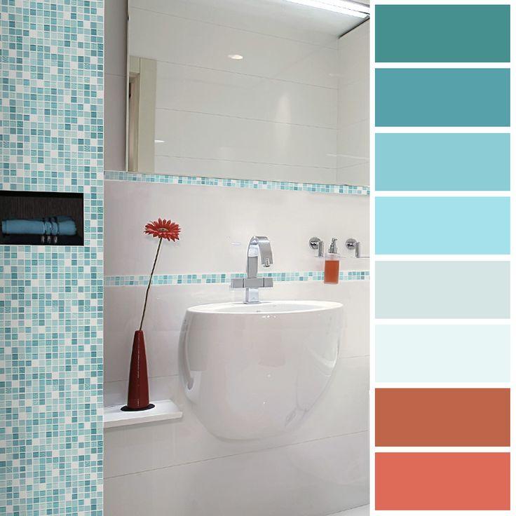 Las tonalidades azules evocan  tranquilidad y calma, son perfectos para el baño.
