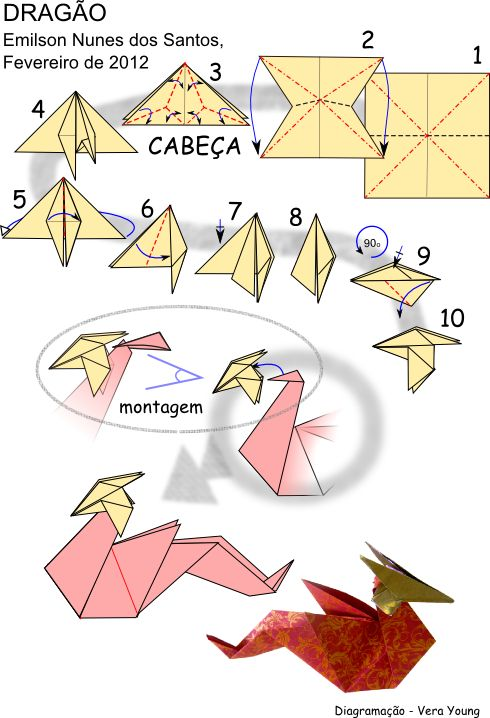 Origami dragon folding instructions stuff to do when for How to make paper things easy step by step