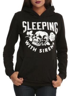 Sleeping With Sirens Skull Rose Girls Hoodie