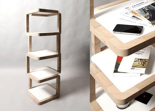 Étagère design original / en bois C26 L28 ARCA