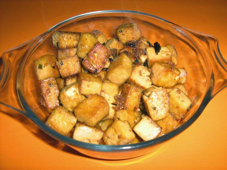 Tofu steak.  ...un blog despre hrană sănătoasă, rețete vegetariene, comenzi de preparate vegetariene, gânduri bune.