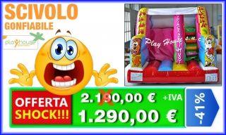 Scivolo gonfiabile offerta shock 1.290 http://playhousegonfiabili.it/offerte-shock-giochi-bambini/giochi-gonfiabili-scivoli-gonfiabili-economici-3-detail.html