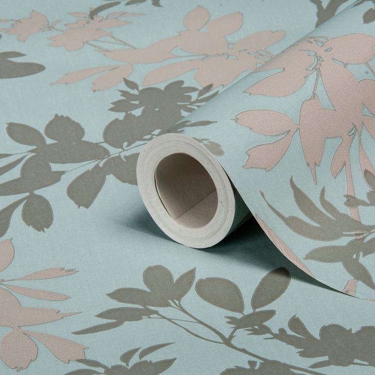 Divine Motif Floral Blue Shimmer Effect Wallpaper | Departments | DIY at B&Q
