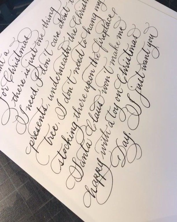Calligraphy Katrina On Instagram No Time Lapse Writing All I Want For Christmas By Mariah Carey From Ig Live Full Video On Calligraphy Katrina Facebook
