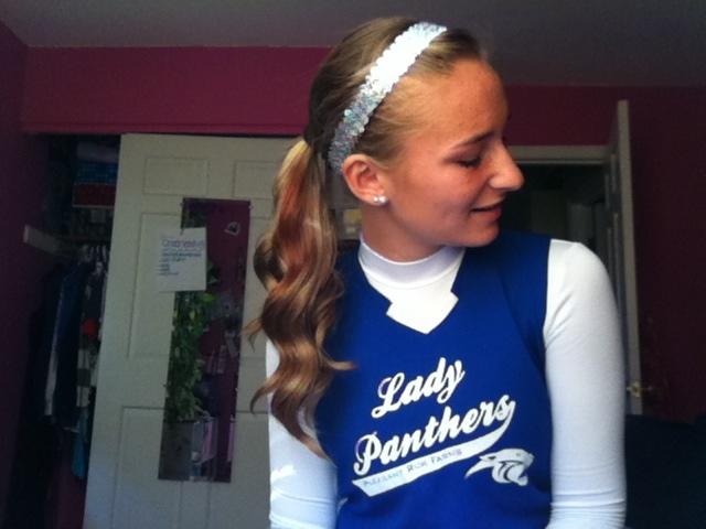 Perfect softball hair