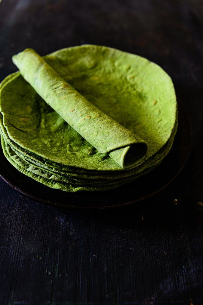 Homemade Spinach Tortillas is a slight twist on the traditional Tortilla with some Spinach Puree added to it to give it that healthy kick.
