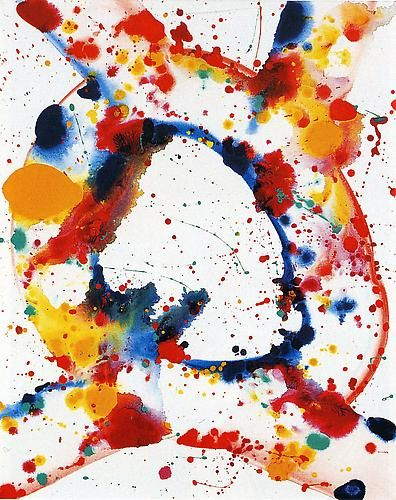 Sam Francis, Untitled (Holy Hole) (1984)